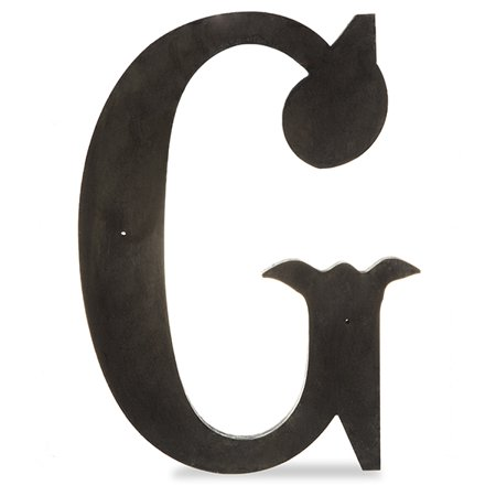 Wood Decorative Letter - G - Charcoal Black 14in