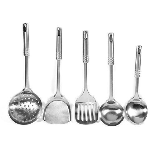 Details about  /Nonstick Stainless Steel Kitchen Cooking Set Colander Spoon Spatula Shovel Ladle
