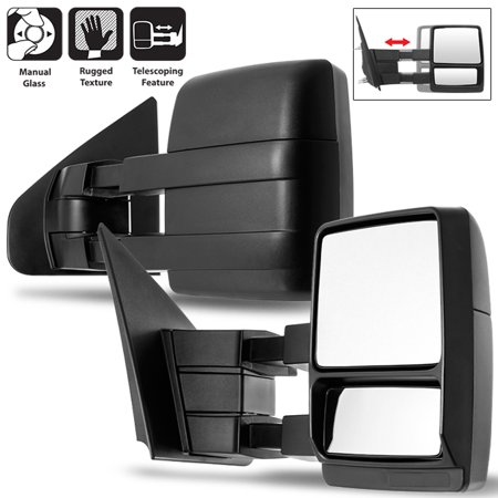 Fit 2004-2014 Ford F-150 F150 Extendable Manual Towing Trailer Mirror Left+Right - Extendable Towing Mirrors