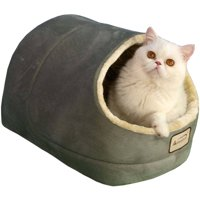 """Armarkat Soft and Cozy Sage Green Cat Bed, 18"""" x 12.5"""" x 11.5"""""""