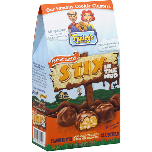 Funley's Peanut Butter Stix in the Mud, 4.5 oz, (Pack of 12)