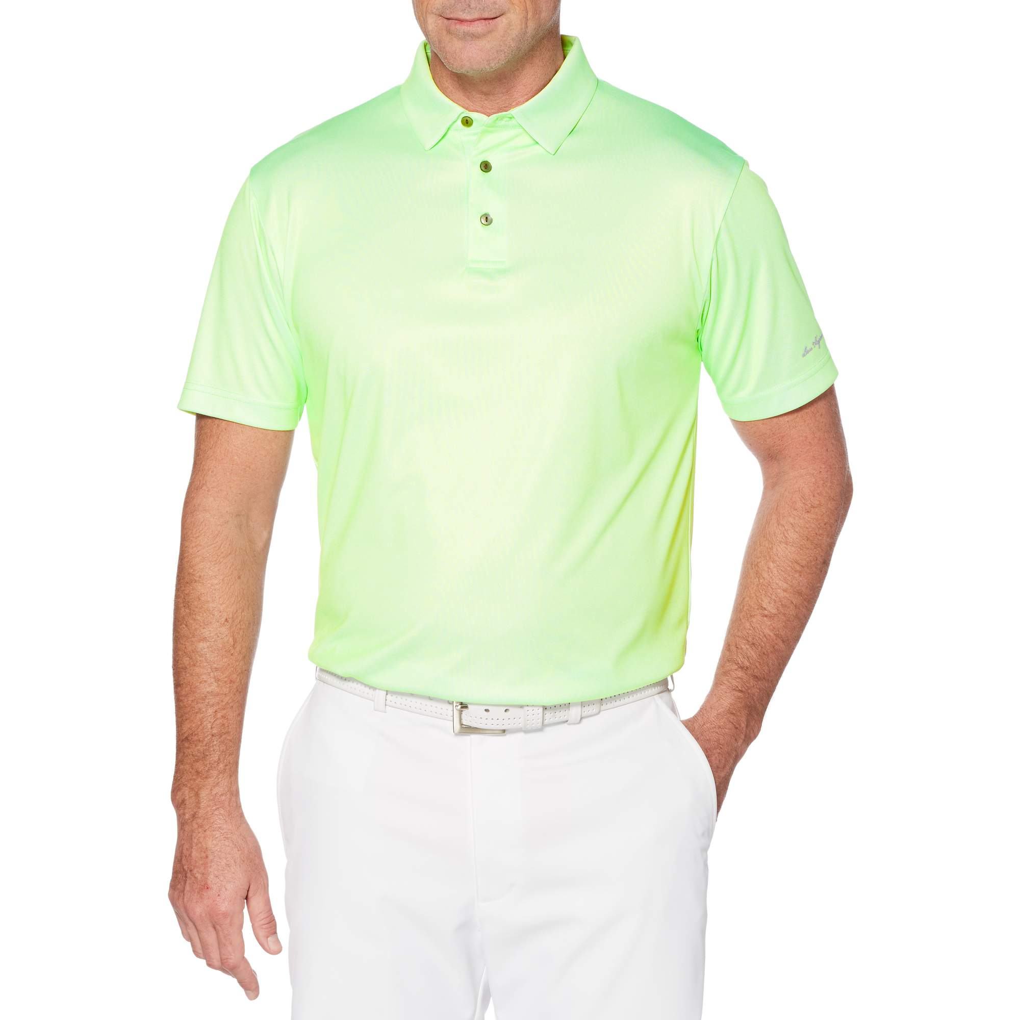 Big Men's Performance Short Sleeve Printed Golf Polo by Generic