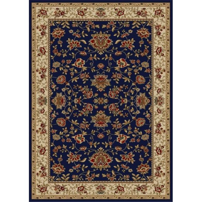 Radici 1597-1455-NAVY Como Rectangular Navy Blue Traditional Italy Area Rug, 5 ft. 3 in. W x 5 ft. 3 in. H - image 1 de 1