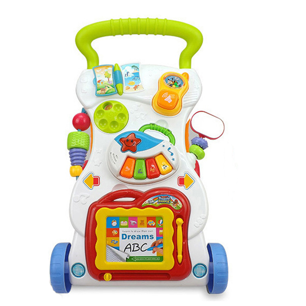 Smart Novelty Multicolor Sit-to-stand Baby Walker Stroller Multi-Function Stroller Good Toddler For Children