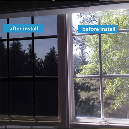 Moaere 59''X20'' DIY Window Film Privacy Film Static Decorative Film Non-Adhesive Heat Control Anti UV Decorative Privacy Window Film