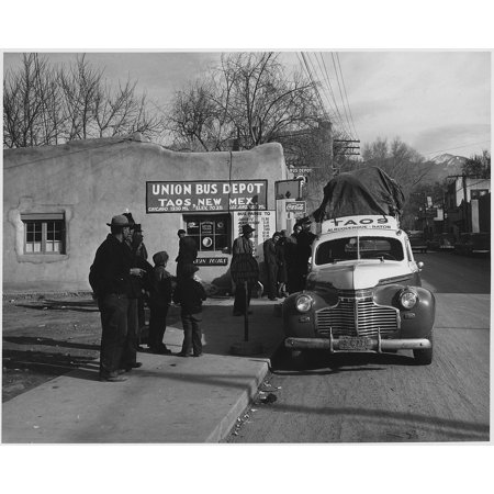 LAMINATED POSTER Taos 1941 Bus Depot Black And White New Mexico Poster Print 24 x 36 ()