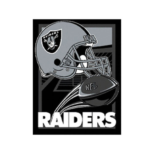 NFL - Oakland Raiders Game-Time Woven Jacquard Throw
