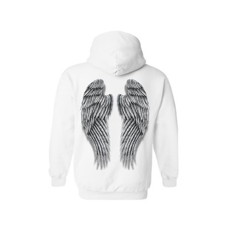 Women's/Unisex Pullover Hoodie Beautiful Fluffy Angel Wings](X Wing Pilot Hoodie)