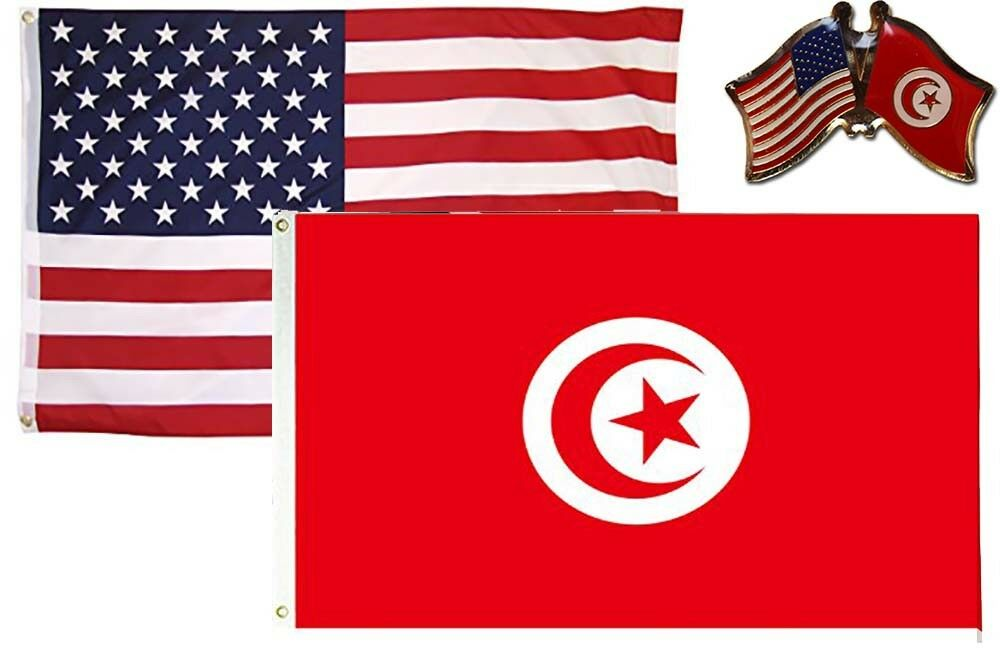 Wholesale Combo Usa Tunisia Country 3x5 3 X5 Flag Friendship Lapel Pin Walmart Com