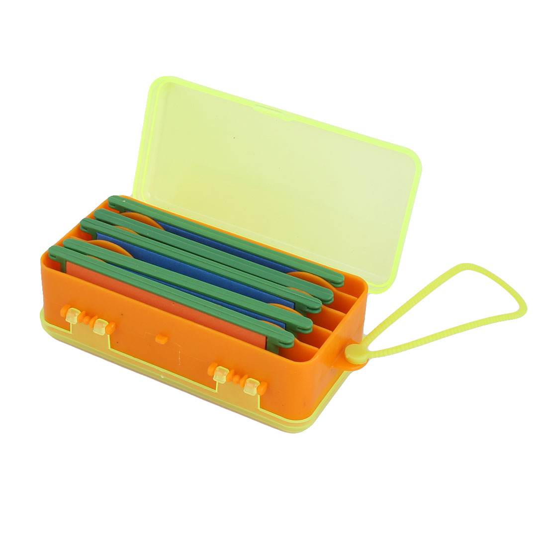 Plastic Dual Side 9 Compartments Fishing Bait Line Spool Tackle Storage Box by Unique-Bargains