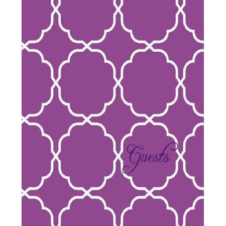 Modern Jen Guest Book And Anniversary Journal  Orchid Purple