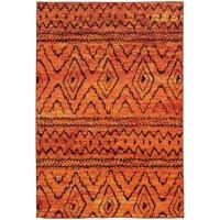 "Oriental Weavers Nomad 5'3"" x 7'6"" Machine Woven Rug in Orange"