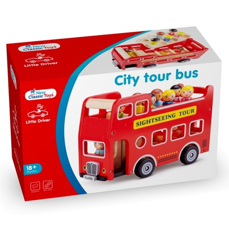 New Classic Toys - City Tour Bus With 9 Play Figures (Ghost Bus Tour Halloween)