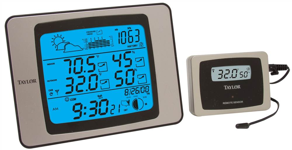 Click here to buy Weather Guide Weather Station w Wireless Remote by Taylor.