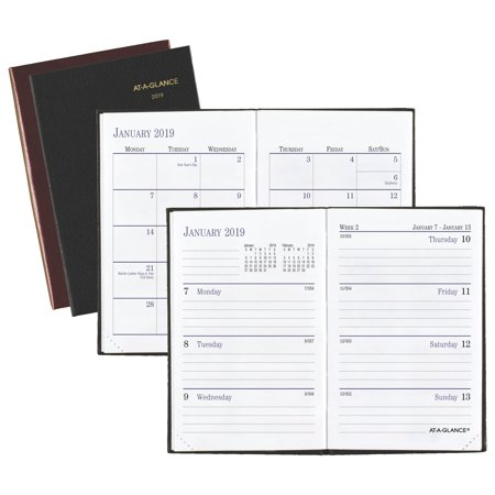 AT-A-GLANCE Fine Diary Weekly-Monthly Pocket Diary - Weekly Journals & Diaries