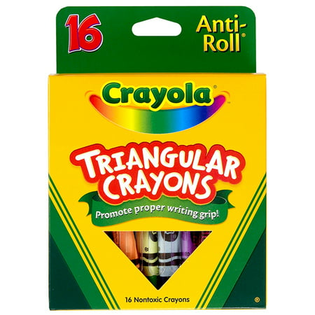 Crayola Triangular Anti-Roll Crayons, 16 Colors Per Box, Set Of 4 Boxes - Box Of Crayons