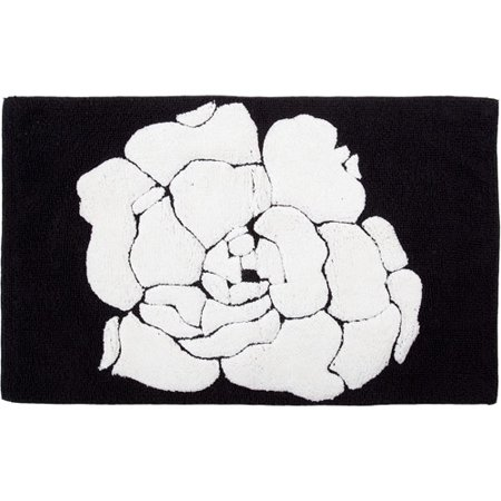 creative bath black and white bath rug walmart 25112