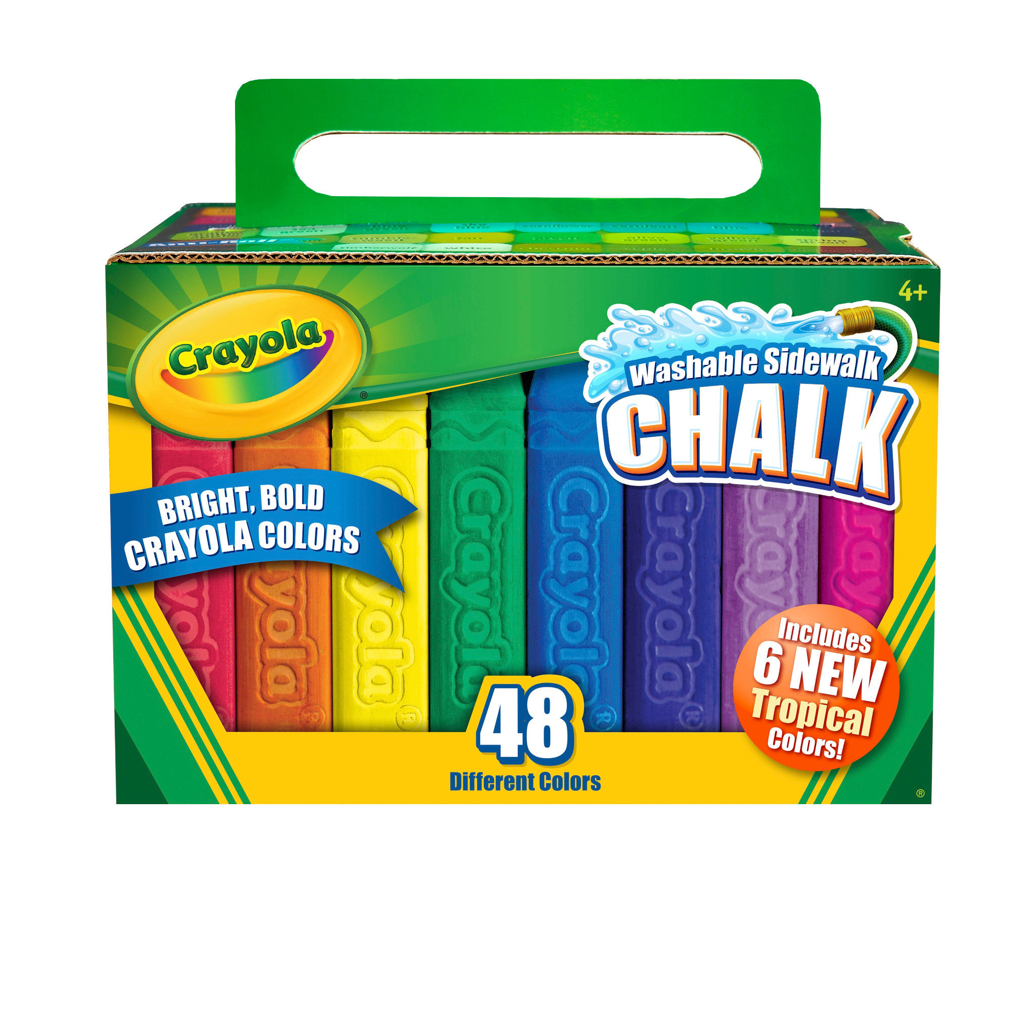 Crayola Washable Sidewalk Chalk, Assorted Colors, Outdoor Toys, 48 Count