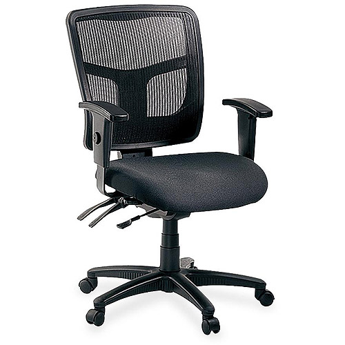 Lorell 86000 Series Managerial Mid-Back Chair, Black