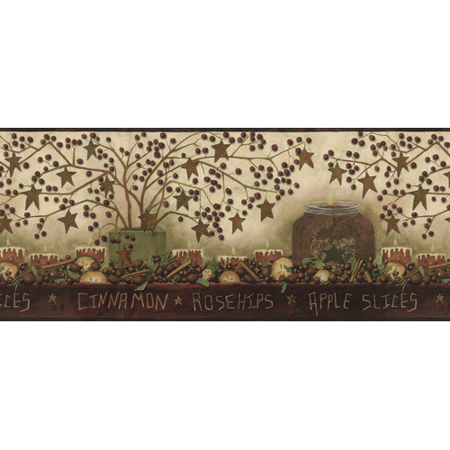 Brewster Home Fashions Borders by Chesapeake Danny Potpourri Trail 15' x 9'' Food 3D Embossed Border Wallpaper
