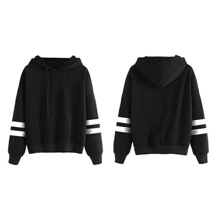 HC-TOP Autumn & Winter Loose Long Sleeves Hoodies For Women Warm Hooded Pullovers - image 4 de 4