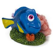 Penn Plax Finding Nemo Mini Dory on Coral Aquarium Ornament