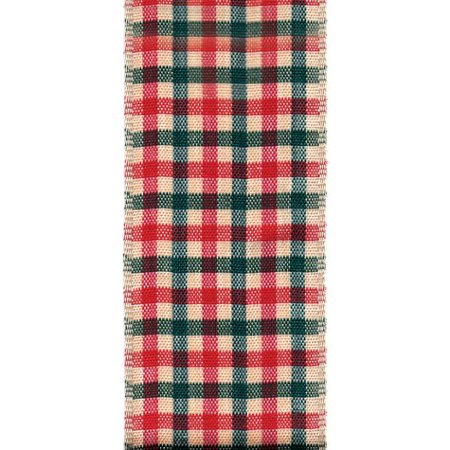 Offray Wired Edge Thatcher Check Craft Ribbon, 1-1/2-Inch Wide by 10-Yard Spool](Discount Ribbon)