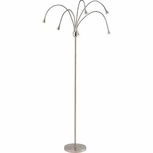 Adesso Firefly 3195 LED Floor Lamp Satin Steel by Adesso