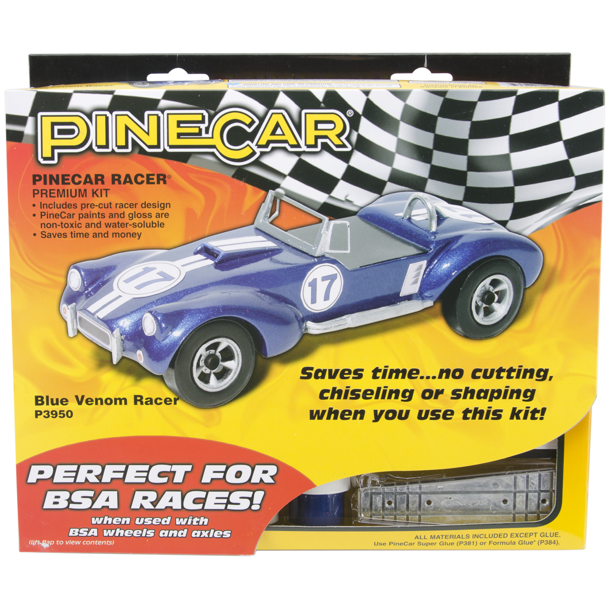 Pine Car Derby Racer Kit, Blue Venom