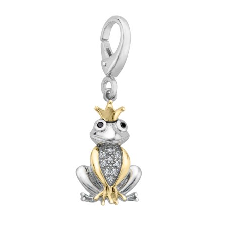 Duet Frog Prince Charm with Diamonds in Sterling Silver & 14kt Gold