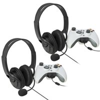 Insten Two Big Gaming Headset with Microphone MIC Earphone for Xbox 360 Xbox360 LIVE Game Black (2-Pack Bundle)