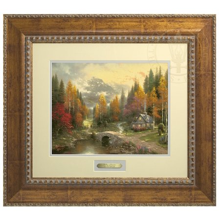Thomas Kinkade The Valley of Peace - Prestige Home Collection (Antiqued Gold Frame)