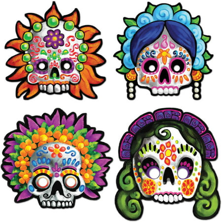 Day of The Dead Masks Adult Halloween Accessory - Days Til Halloween