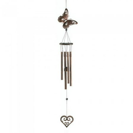BUTTERFLY AND HEART WIND (Heart Chimes)