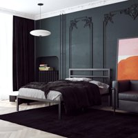 Signature Sleep Premium Modern Platform Bed with Headboard, Industrial Style, Sturdy Metal Frame with Slats, Multiple Colors and Sizes