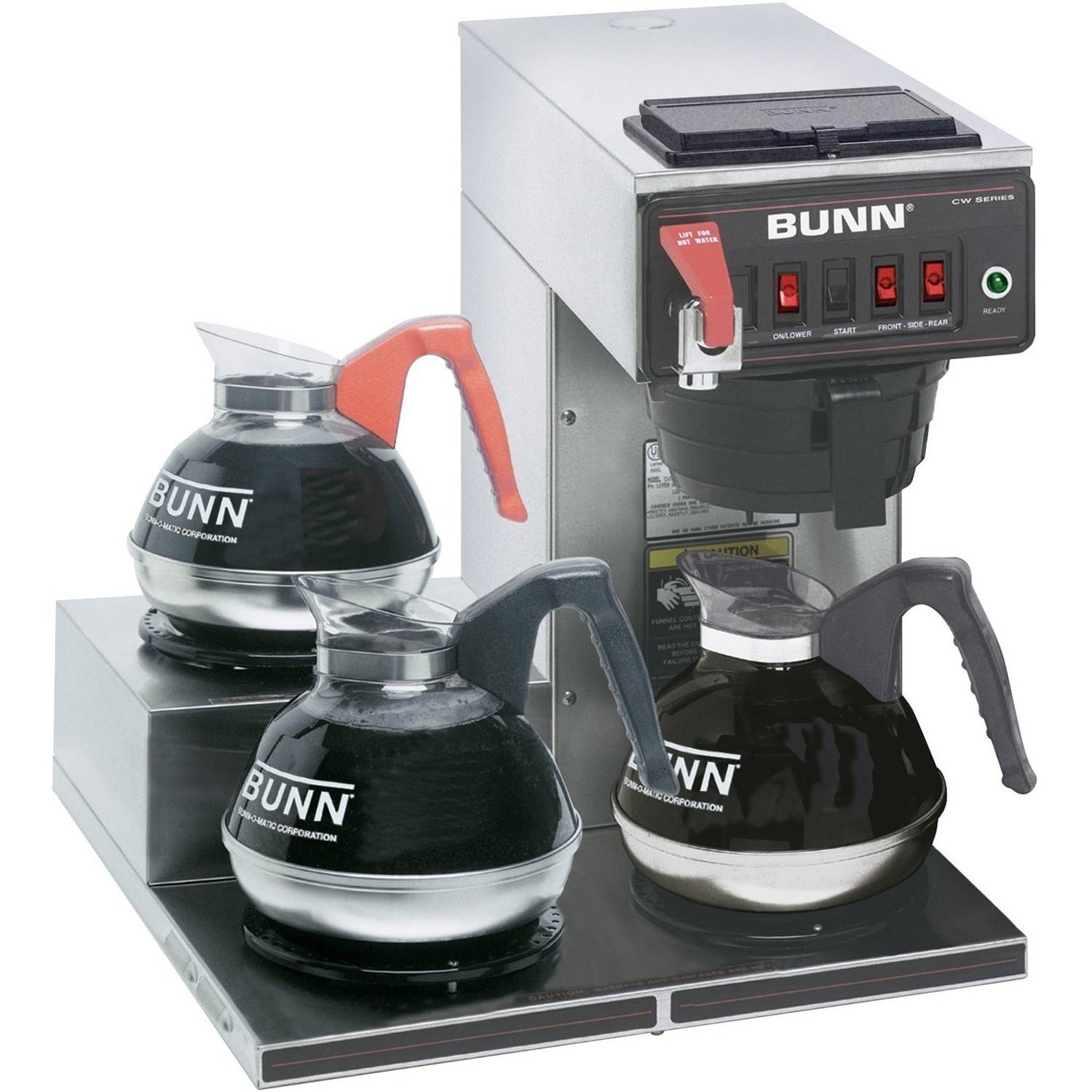 BUNN CWTF15-3 3L Left, 12-Cup Automatic Commercial Coffee Brewer, 3 Warmers, 12950.0298