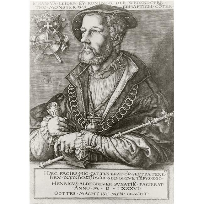 Posterazzi DPI1856498LARGE John of Leiden Or Jan Van Leiden Or Jan Beukelsz Or Jan Beukelszoon Aka John Bockold Or John Bockelson 1509 To 1536 Poster Print, Large - 24 x 34 - image 1 of 1