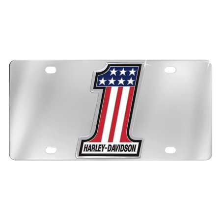 Harley-Davidson Number 1 American Flag Decorative Vanity License Plate