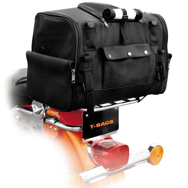 T-BAGS Pet Carrier Tail Bag for Harley Davidson Touring a...