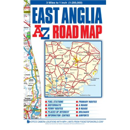 East Anglia Road Map (A-Z Road Map) (Map) - Walmart.com