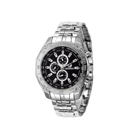 Shaped Analog (Men Business Casual Analog Display Round Shape Quartz Wrist Watch)