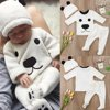 Cartoon Newborn Baby Girls Boys Long Sleeve Tops Pants Outfits Set Warm Clothes