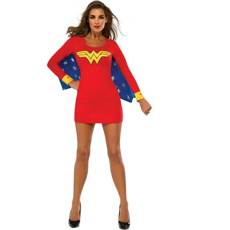 Sexy Wonder Woman Cape Dress Costume (Wonder Woman Costume Spirit)