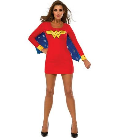 Sexy Wonder Woman Cape Dress Costume
