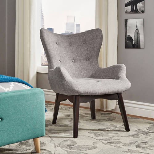 Chelsea Lane Adelio Button Tufted Accent Chair, Multiple Colors by Overstock