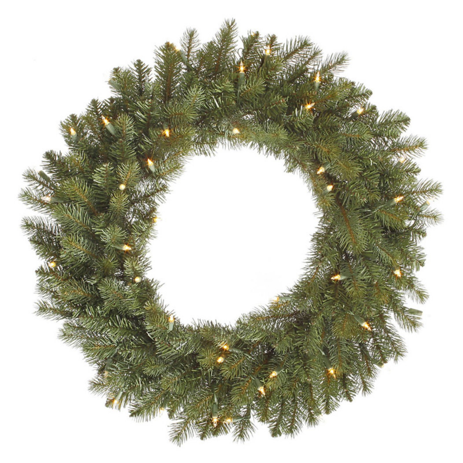 """Vickerman 30"""" Colorado Spruce Wreath with 50 Clear Lights"""
