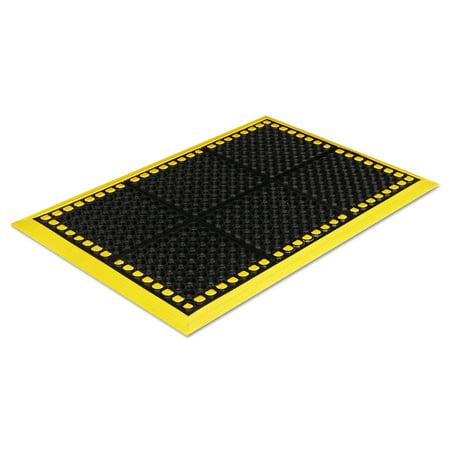 Crown Safewalk Workstations Anti-Fatigue Drainage Mat, 28 x 40, Black/Yellow -CWNWS4E26YE](Crown Station)