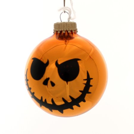 Holiday Ornaments HALLOWEEN SCARY FACES Glass Spooky