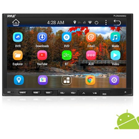 "Pyle Androrid Car Stereo Double Din Receiver WIFI 7"" Touchscreen Bluetooth, DVD Navigation USB SD Reader by"