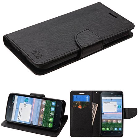 Black Patternblack Liner Myjacket Wallet Crossgrain Series 84a -wp For Alcatel Stellar Alcatel 5065 Tru